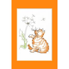 W 10229 Pattern ONLINE - Occasional card - Kitten