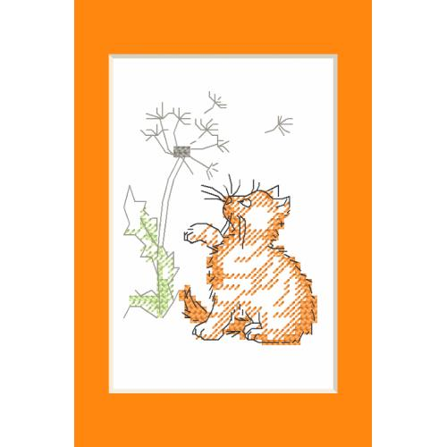 ZU 10229 Cross stitch kit - Occasional card - Kitten