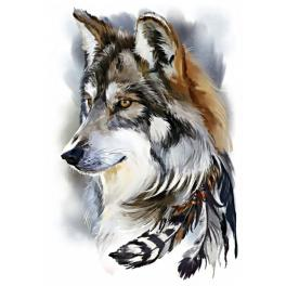 Diamond painting kit - Wolf spirit