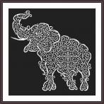 Cross stitch pattern - Lace elephant