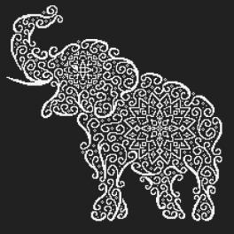 Cross stitch kit - Lace elephant