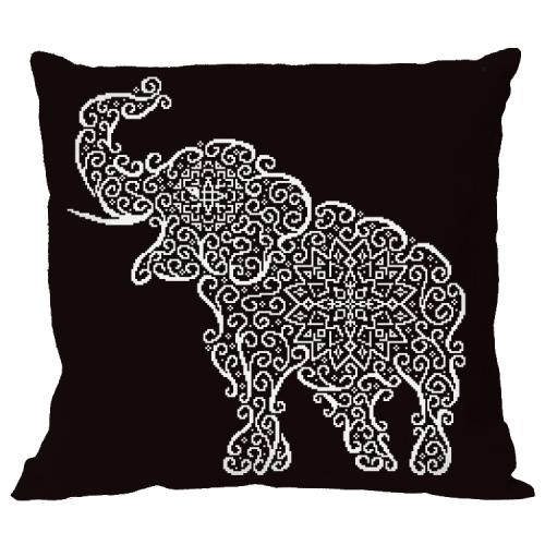 Cross stitch pattern - Pillow - Lace elephant