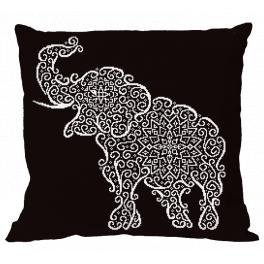 ZU 8984-01 Cross stitch kit - Pillow - Lace elephant