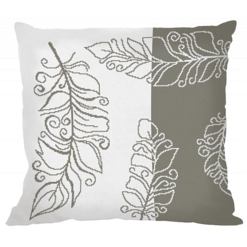 Cross stitch pattern - Pillow with feathers