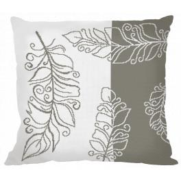 ZU 8986-01 Cross stitch kit - Pillow with feathers