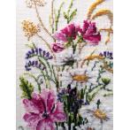 Cross stitch kit - Bunch of wild flowers