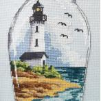 Z 10222 Cross stitch kit - Bottle with a lighthouse