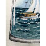 Z 10223 Cross stitch kit - Bottle with a sailboat