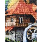 Cross stitch kit - Mill in the mountains