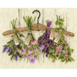 Kit with yarn - Herbs