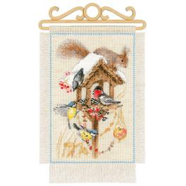 Kit with yarn - Cottage garden - winter