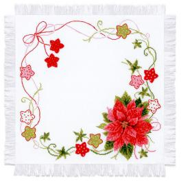 RIO 1752 Cross stitch kit with yarn - Christmas table topper