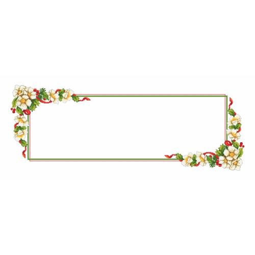 Cross stitch pattern - Christmas table runner with flowers