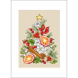 Pattern ONLINE - Postcard - Christmas tree
