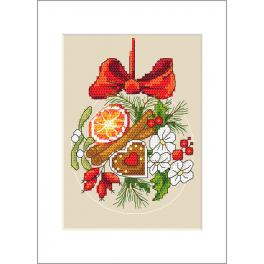 W 10232 Pattern ONLINE - Postcard - Christmas ball