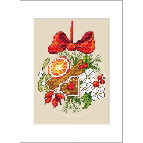 Cross Stitch pattern - Postcard - Christmas ball