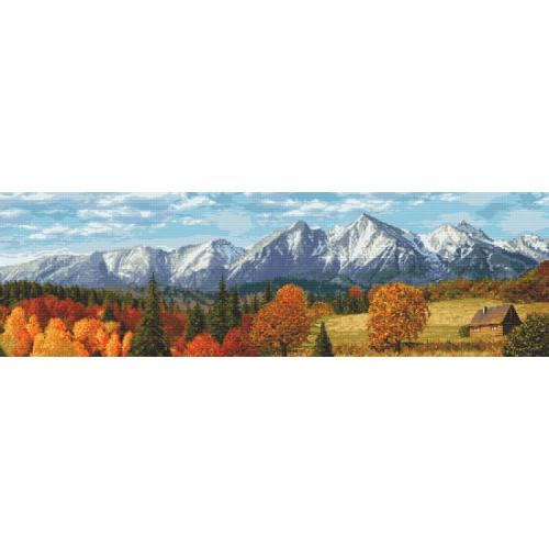 Graphic pattern - Autumn mountains