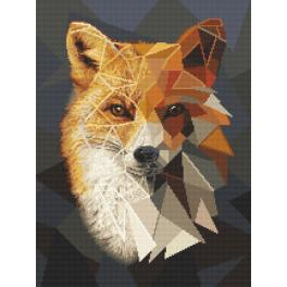 Cross stitch kit - Mosaic fox