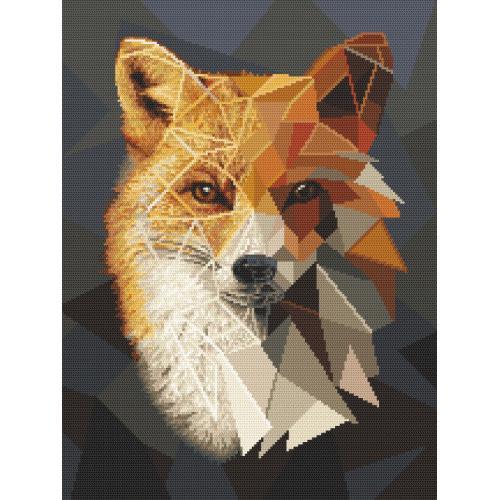 Cross stitch kit - Mosaic fox