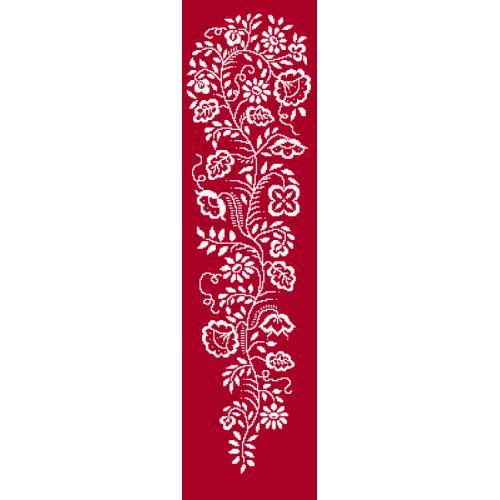Cross stitch pattern - White embroidery