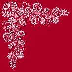 Cross stitch pattern - Napkin - White embroidery