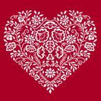 Z 8969 Cross stitch kit - Heart - White embroidery
