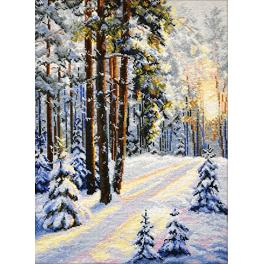 OV 727 Cross stitch kit - Winter road