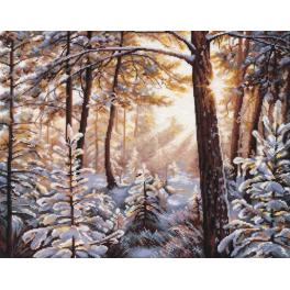 OV 1166 Cross stitch kit - Frost and sunlight
