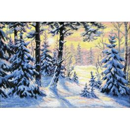OV 698 Cross stitch kit - Winter forest