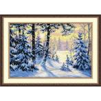 Cross stitch kit - Winter forest