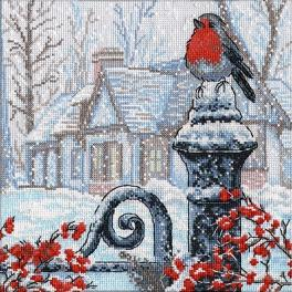 OV 693 Cross stitch kit - Christmas morning