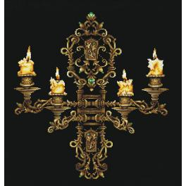 SANV-28 Cross stitch kit - Evening by candlelight