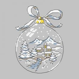 Cross stitch pattern - Christmas ball with a brigde