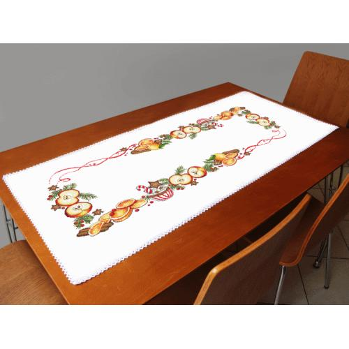 Cross stitch kit with a runner - Christmas table runner