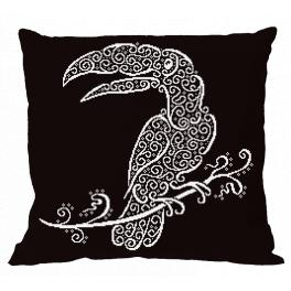 ONLINE pattern - Pillow - Lace toucan
