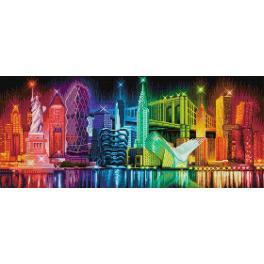 M AZ-1770 Diamond painting kit - Colours of New York