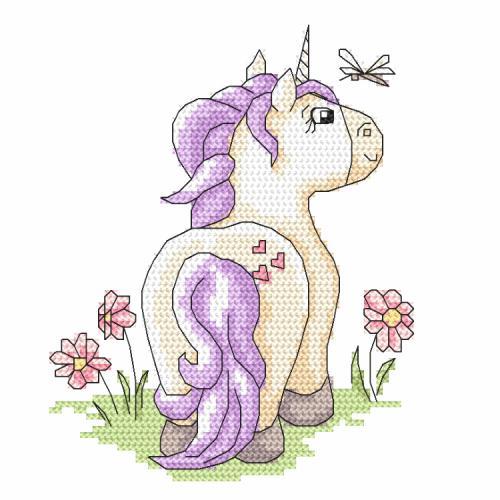 Cross stitch pattern - My friend unicorn