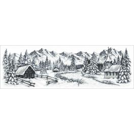K 8990 Tapestry canvas - Winter mountains