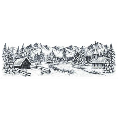 Tapestry canvas - Winter mountains
