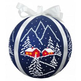 Cross stitch kit - Christmas ball with a view II