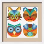 Cross stitch kit - Colourful animals