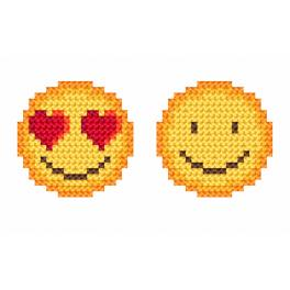 Cross stitch kit - Emoticons