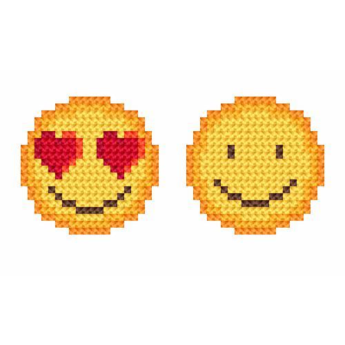 Cross stitch kit - Emoticons