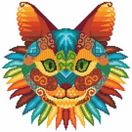 W 8996 ONLINE pattern pdf - Cat kaleidoscope