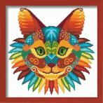 Graphic pattern - Cat kaleidoscope