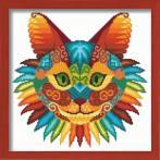 ZN 8996 Cross stitch tapestry kit - Cat kaleidoscope