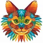 Cross stitch kit - Cat kaleidoscope