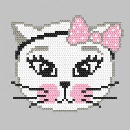 Cross stitch pattern - Mischievous kitty