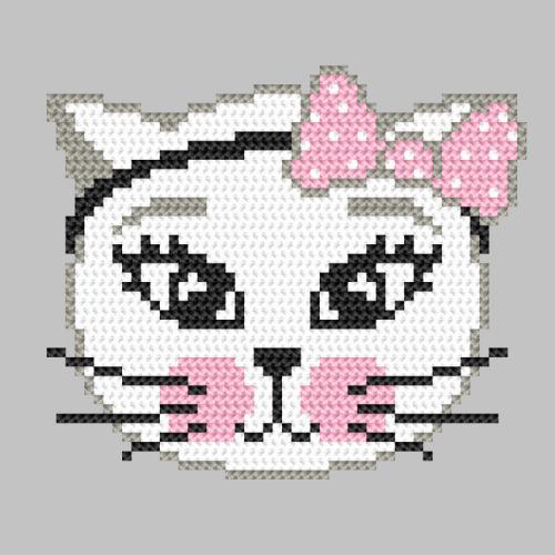 Cross stitch pattern - Mischievous kitty