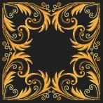 ONLINE pattern - Pillow - Golden arabesque